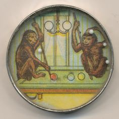 Monkeys playing pool dexterity puzzle