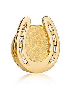 Est?e Lauder Beautiful Golden Horseshoe Solid Perfume Compact