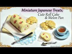 Miniature Kawaii Roll Cake & Turtle Melon Pan; Japanese inspired polymer clay turorial - YouTube