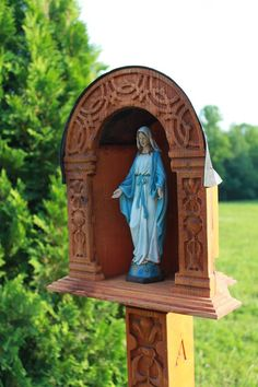 Marian Shrine, Wayside Shrine, Garden Shrine, Catholic Shrine. $229.00, via Etsy.