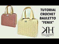TUTORIAL Borsa Uncinetto - Mod.DOPPIAG - Crochet- Punto ventaglio obliquo - YouTube