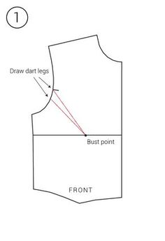 eliminate armhole gap by creating/increasing bust dart