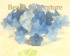 Hey, I found this really awesome Etsy listing at https://www.etsy.com/listing/178208103/10mm-x-5mm-blue-lucite-flower-bead-mix