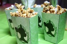 Princess and the Frog birthday party - popcorn containers