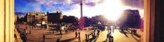 Trafalgar Sq. View from the National Gallery