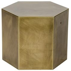 Noir Aria C Side Table ($792) ❤ liked on Polyvore featuring home, furniture, tables, accent tables, hexagon side table, contemporary end tables, noir furniture, geometric side table and hexagon table
