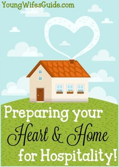 With a little preparing, of both your heart and your home, hospitality can run a lot smoother and more efficiently. This will leave you more time to focus on the guests in your home and to be good witnesses of Christ!