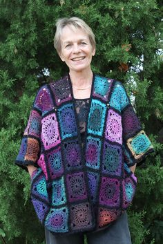 Granny Square Kimono IMG_0805 by miracle design, via Flickr