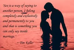 Tim Keller is so wise. If only more people understood this!