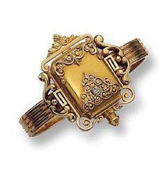 GOLD AND DIAMOND BANGLE-WATCH, PATEK PHILIPPE , CIRCA 1880