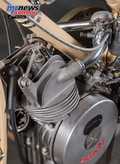 Ducati Cucciolo (Little Pup) was designed by the Turin based lawyer and writer Aldo Farinelli in 1943 after the Italian Armistice. Cucciolo in June 1946 Race Engines, Motorcycle News, Bicycle Race, 50cc, Car Engine, Fuel Economy, Ducati, Race Cars, Engineering