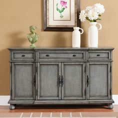 Coast to Coast Imports 3 Drawer Credenza & Reviews | Wayfair