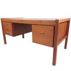 Scandinavian Modern Teak Desk 1