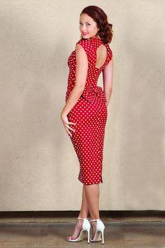 Stop Staring Love Bow Polkadot Pencil Dress 15214 20141105 2