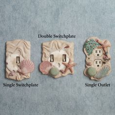 ocean decor | Seashell Switchplates