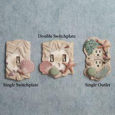 ocean decor | Seashell Switchplates
