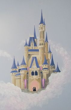 What little girl would not love to have her own castle on her bedroom wall? One lucky little girl got this fairy tale princess castle mural in her room.