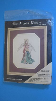 The Angels' Prayer Counted Cross Stitch Kit KB-9 Serendipity Designs 1985 Sealed #SerendipityDesigns #Frame