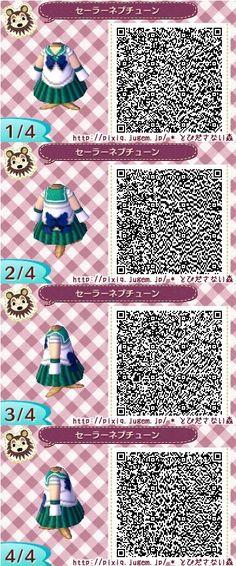 Sailor Neptune Animal Crossing QR Code