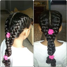 Real Life Doll creations, Pink Flowers, Hair style for kids, little girls hairstyles, hairstyles for curly hair. CURLY hair! HAIR FOR LITTLE GIRLS BY A.MCKNIGHT
