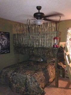This Is A Loft Bed Dressed Up To Look Like A Duck Blind. This Will Be Sons  Bedroom One Day!