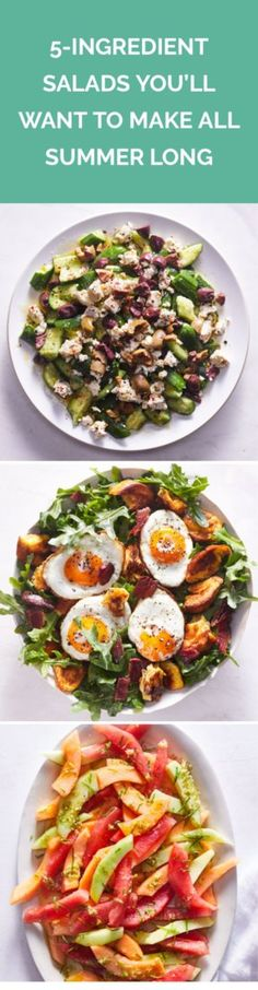 5-Ingredient Salads You'll Want to Make All Summer Long   Could our best salads yet be just five ingredients? Absolutely.