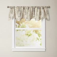 Found it at Wayfair - Aletha Lined Scallop Curtain Valance