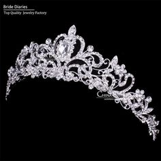 Tiaras and Crowns Wedding Hair Accessories Tiara Bridal Crown Wedding Tiaras for Brides Hair Ornaments ** This is an AliExpress affiliate pin. Locate the offer on AliExpress website simply by clicking the VISIT button Bridal Crown, Bridal Tiara, Bridal Headpieces, Hair Jewelry, Wedding Jewelry, Flower Jewelry, Wedding Tiaras, Wedding Crowns, Hair Wedding
