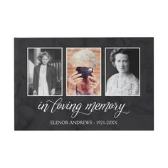 Shop Calligraphy In Loving Memory Photo Collage Guest Book created by elysianplain. Personalize it with photos & text or purchase as is!