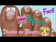 ♥Decoración de Uñas Pies Elegante/♥Chic Feet Nail Decoration - YouTube Pedicure Nail Art, Toe Nail Art, Easy Nail Art, Short Nail Designs, Toe Nail Designs, Cute Pedicure Designs, Hello Nails, Cute Pedicures, Glitter Nail Polish