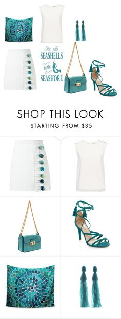 """the blue of our sea!!"" by marifimarina ❤ liked on Polyvore featuring Christopher Esber, Finders Keepers, Lanvin, BCBGMAXAZRIA and Oscar de la Renta"