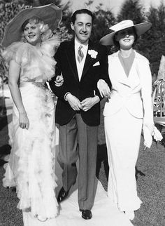 """classic-hollywood-glam: """" Jean Harlow Irving Thalberg and Norma Shearer """" Old Hollywood Glamour, Golden Age Of Hollywood, Vintage Hollywood, Hollywood Stars, Classic Hollywood, Vintage Glamour, Hollywood Icons, Vintage Hats, Vintage Vogue"""