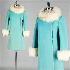Vintage 1960s Tiffany Blue Coat