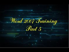 Formation WORD 2007 Complete/WORD 2007 Complete Training