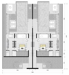 Hotel Floor Plan, House Floor Plans, Resort Plan, Villas, Architectural Floor Plans, Villa Plan, Rm 1, Hotel Room Design, Resort Villa