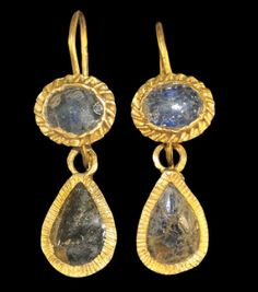 Roman Gold Teardrop Earrings, 2nd century A.D.