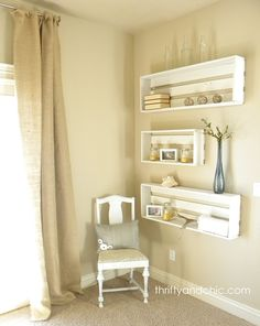 Beautiful DIY Shelving Made Easy And I love these too!