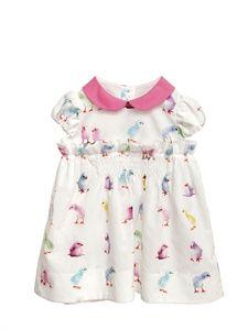 SIMONETTA TINY - PRINTED POPLIN COTTON DRESS baby infant toddler