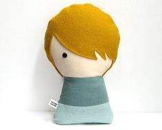 Handmade Personalized plush doll. Stuffed by citizenscollectible, $33.00