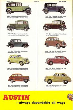 Fifty Years Of Austin Progress 2 Advert From The Motor 1956 By