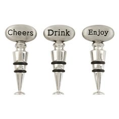 Fancy Bottle Stoppers Set of 3 now featured on Fab.