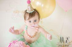 Media, PA Cake Smash 1st Birthday Portrait Photography | Baby Kylie | First Birthday Session | First Birthday Photo Props Tutu | Hat | Necklace | Balloons | Perfect Cake Smash | #mephotodesign.com #firstBirthday #birthdaygirl #cakesmash #cakesmashsession #oneyearold #birthdaygirl