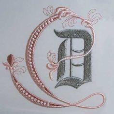 Fleur de Lis Alphabet- D: Sonia Showalter