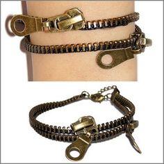 arm cuff | ... Armband Armschmuck Zip Zipper Bracelet Arm Candy Blogger | eBay