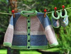 layette ensemble 3 mois gilet et chaussons neuf tricoté main : Mode Bébé par com3pom