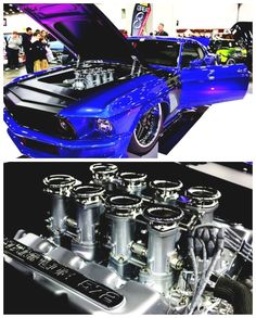 Insane 69' Ford Mustang at 2015 Detroit Autorama...See All About It Here: http://hot-cars.org/2015/03/13/insane-1969-ford-mustang-at-2015-detroit-autorama/