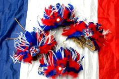 Bandeau France supporter de la coupe du monde de football : Accessoires coiffure par claudeplume