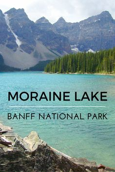 Moraine Lake in Banff National Park, Alberta, Canada. Click to read the ultimate guide to the best of Banff, Alberta. via @globeguide