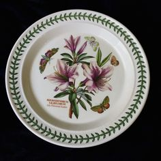 Portmeirion china plate Botanic Rhododrendrum Lily Flowered Azalea Britain