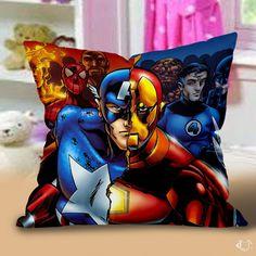 Avanger Captain America Iron Man Pillow Cases